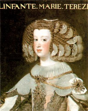 Bourbon claim to the Spanish throne - Infanta María Teresa by Diego Velázquez, c.1652