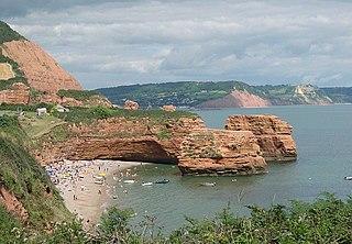 Ladram Bay bay in the United Kingdom