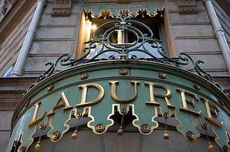 Ladurée - Ladurée sign (Champs-Élysées flagship)