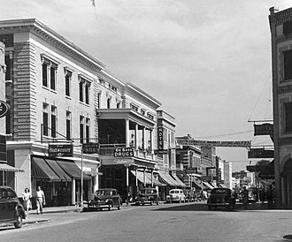 Lake City, Florida - Photograph of Marion Street in 1948.