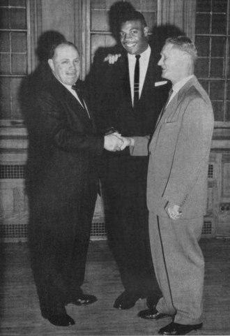 Lamar Lundy - Lundy receives 1956 Purdue MVP award