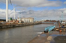 Langton entrance lock, Liverpool Docks (geograph 2062859).jpg