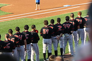 Lansing Lugnuts - 2010 Lugnuts wearing their away jerseys