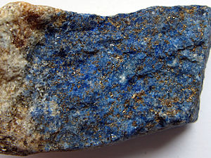 Aggregate (geology) - Lapis lazuli from Afghanistan