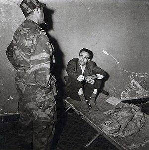 Larbi Ben M'hidi - Larbi Ben M'hidi in custody
