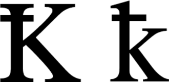 K with stroke - Latin letter K with stroke