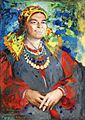 Laughing peasant woman by F.Malyavin.jpg