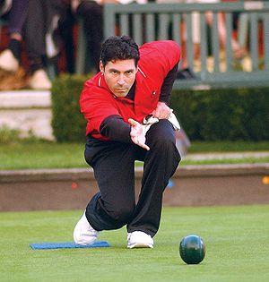Bowls - Canadian lawn bowler Tim Mason