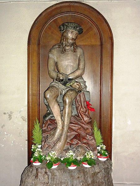 Le Quesnoy (Nord, Fr) église, statue Dieu de Pitié