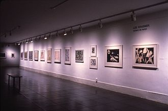 Lee Krasner - Installation view of solo exhibition of Krasner's work at the Brooklyn Museum in 1984