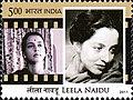 Leela Naidu 2011 stamp of India.jpg