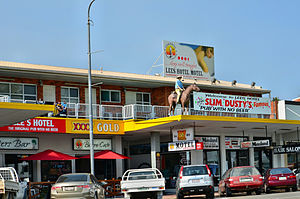 """Slim Dusty - Slim Dusty's hit  """"A Pub With No Beer"""", inspired by the Lees Hotel, Ingham"""