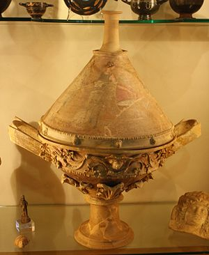 Centuripe ware - Lekanis in Legnano, with parts reconstructed.