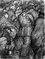 Leo Gestel Vlucht uit België 1914 chalk.jpg