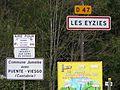 Les Eyzies-de-Tayac-Sireuil panneau jumelage.JPG