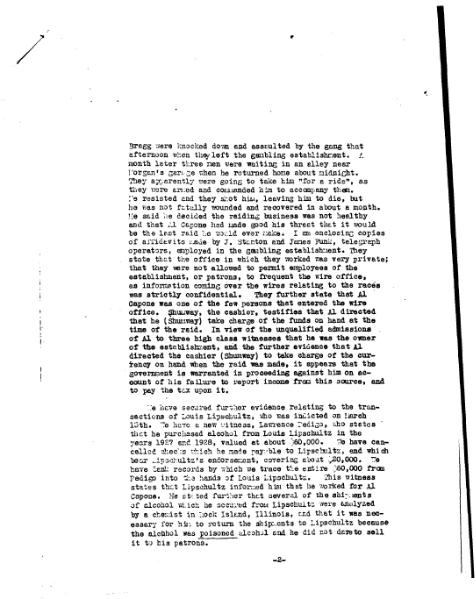 File:Letter from Frank Wilson updating the Capone investigation, March 27, 1931.djvu
