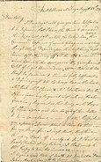 Letter from Israel Shreve to Mary Shreve (August 28, 1779)