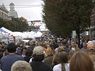 Lexington Barbecue Festival - Downtown Lexington during the festival