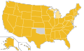 Libertarian Party Ballot Access Locator Map, 2012 (United States of America).png