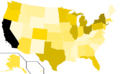 Libertarian Party presidential election results, 1980, raw vote count (United States of America).png