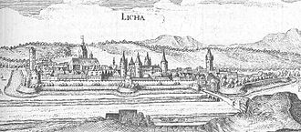 Lich, Hesse - Lich in the Topographia Hassiae from Matthäus Merian 1655