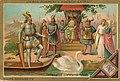 Liebigbilder 1889, Serie 135. Opernszenen (Wagner) - 3 Lohengrin (Lohengrin's Ankunft).jpg