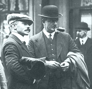 Charles Lightoller - Lightoller, right, with third officer Herbert Pitman.