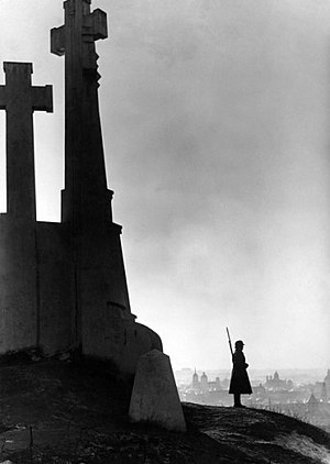 Three Crosses - Lithuanian Guard of Honor near the Three Crosses in 1939