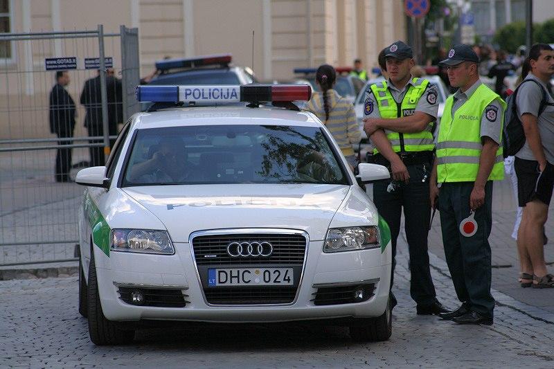 Lithuanian police Audi A6 in Vilnius