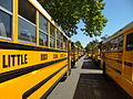 Little Rock School District Buses outside Central High School - Little Rock - Arkansas - USA.jpg