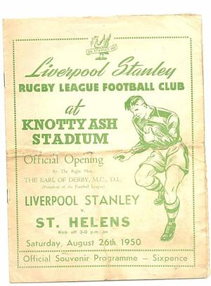 Liverpool Stanley - Image: Liverpool stanley programme