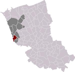 Watten, Nord - Image: Locatie Waten