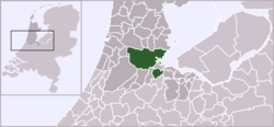 Location of Amsterdam within the Netherlands