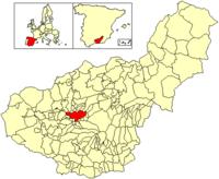 موقع مدينة غرناطة في مقاطعة غرناطة (إسبانيا)
