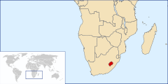 Location of Lesotho