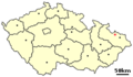 Location of Czech city Kravare.png