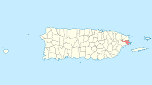 Location of Ceiba in Puerto Rico