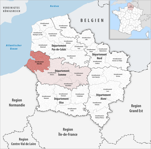 Arrondissement of Abbeville - Image: Locator map of Arrondissement Abbeville
