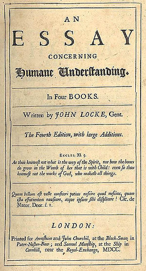 Some Thoughts Concerning Education - Title page from the fourth edition of Essay Concerning Human Understanding