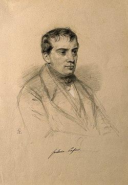 Lodovico Pasini. Pencil drawing by C. E. Liverati, 1841. Wellcome V0004516.jpg