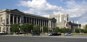 Logan Circle (Philadelphia) - The Free Library of Philadelphia and Philadelphia Family Court Building...
