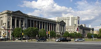 Logan Circle (Philadelphia) - Parkway Central Library and Philadelphia Family Court Building