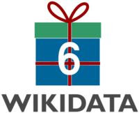 6th Wikidata birthday logo