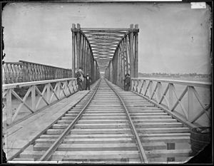 14th Street Bridges - Long Bridge after completion of new bridge during the Civil War