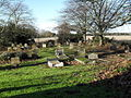 Looking towards the footpath continuation in the churchyard at St Mary the Virgin, Apuldram - geograph.org.uk - 1637295.jpg