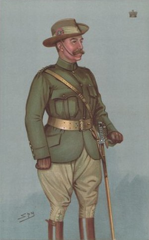 "Charles Cavendish, 3rd Baron Chesham - ""Imperial Yeomanry"". Lord Chesham as caricatured by Spy (Leslie Ward) in Vanity Fair, March 1900."