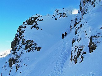 Scafell - Image: Lords' rake scafell in snow 2010