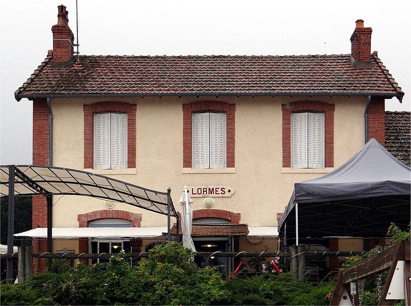"""The old station of """"tacot du Morvan"""" line Corbigny to Saulieu. Lormes, Nièvre, France."""