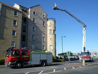 Lothian and Borders Fire and Rescue Service - Attending an emergency at Newhaven in 2011