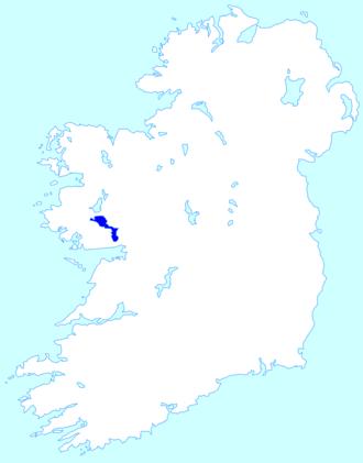 Lough Corrib - Image: Lough Corrib location